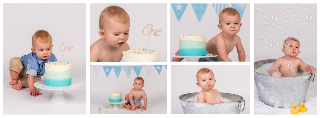 Kai's Cake Smash Collage