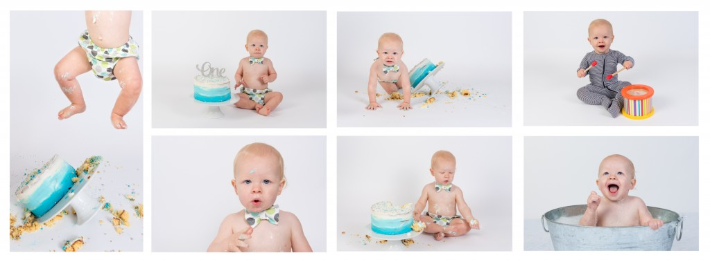 Lachlan's cake smash collage