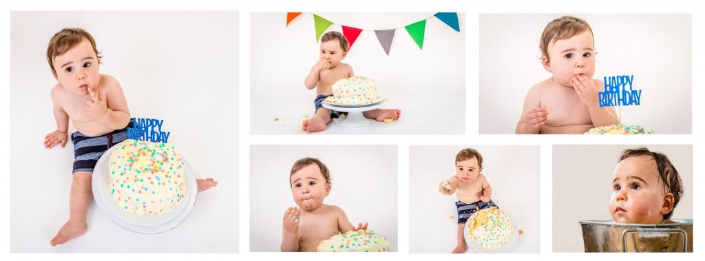 Louis Cake Smash Collage