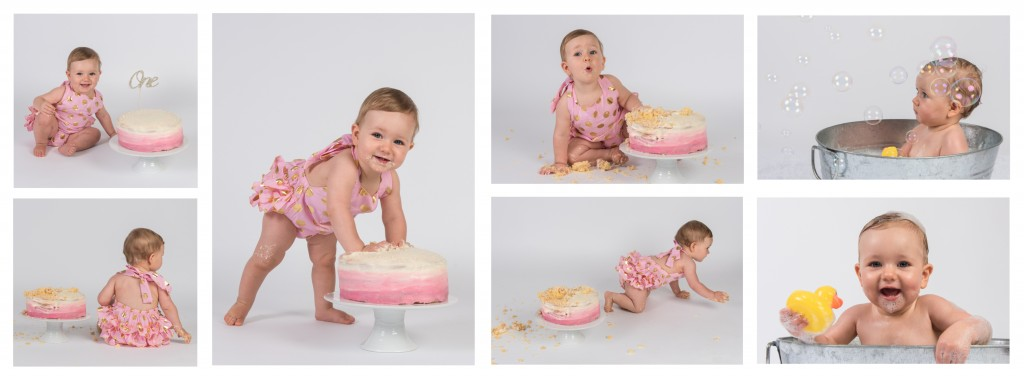 Zoe Cake Smash Collage